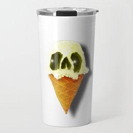 Skull Yellow Ice Cream Travel Mug