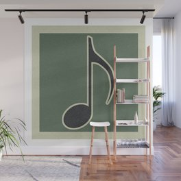 eighth note green Wall Mural