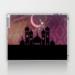 Purple & Gold Arabian Nights Half Moon Laptop & iPad Skin