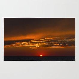 Colington Sunset golden Clouds Rug