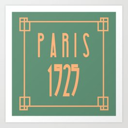 Paris 1925 Art Deco Exposition Framed Typography Tribute Art Print