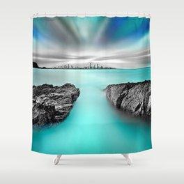 Quantum Divide Shower Curtain