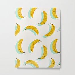 Banana Pattern – Mint Metal Print