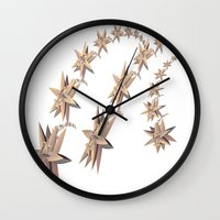 constellation Wall Clocks featuring constellation by Tanja Riedel