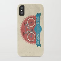 brompton iPhone & iPod Cases featuring Born to Ride by Wyatt Design