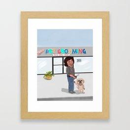 Melrose Pet Grooming Framed Art Print