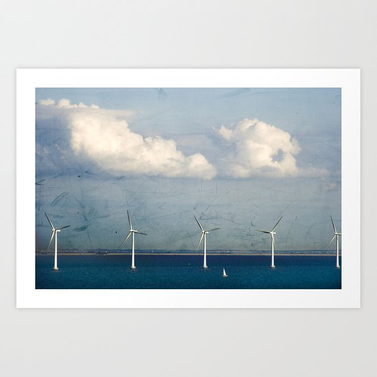 Wind Turbines Art Print