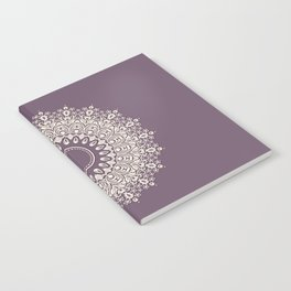 Mandala in Mulberry and White Notebook