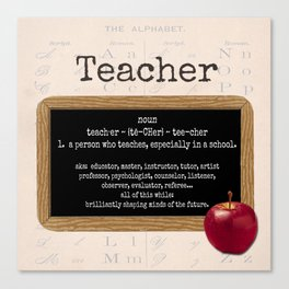 Teacher-Apple Canvas Print