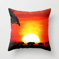 africa Throw Pillows featuring Africa by Selina Morgan