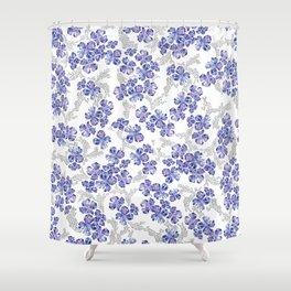 Hydrangea Blooms in Purple Shower Curtain