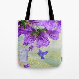 Purple Cranesbill Tote Bag