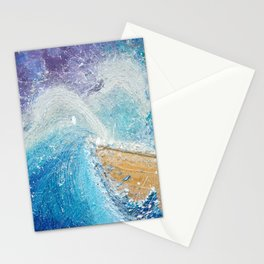 The Ark - Faith through turbulent times - Hold on perfect storm - artwork of surrender and hope Stationery Cards