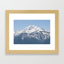 Swiss Alps and Paraglider Framed Art Print