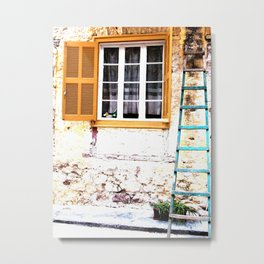 Ladder in Nafplio Metal Print