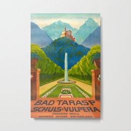 Bad Tarasp Vintage Travel Poster Metal Print