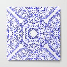 Mindful Mandala Pattern Tile MAPATI 95 Metal Print