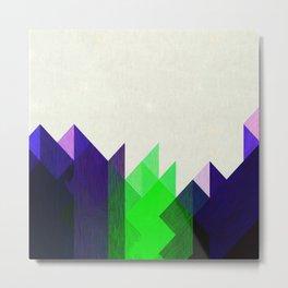 Green Peaks Metal Print