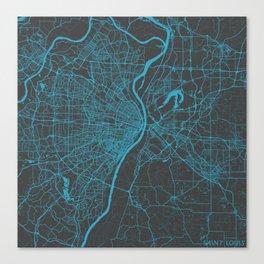 Saint Louis Map Canvas Print