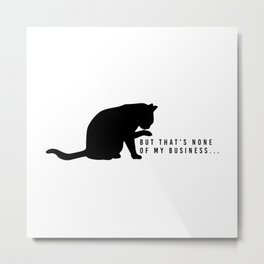 Nosey Cat Metal Print