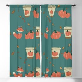 Pumpkin Spiced Fox-ae Blackout Curtain