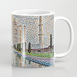 India Taj Mahal Artistic Illustration Carpet Style Coffee Mug