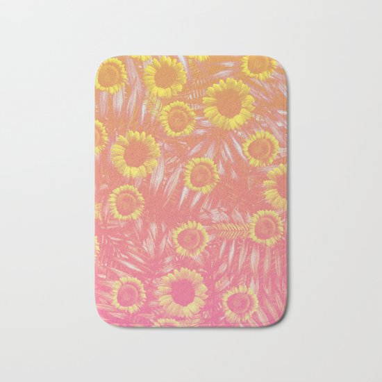 Sunflower Party #4 Bath Mat