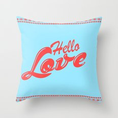 Hello, love | Typography Throw Pillow