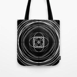 Black White Swirl Tote Bag