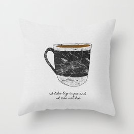 I Like Big Cups Throw Pillow