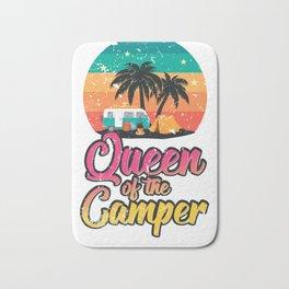 Queen of the Camper Retro Vintage Tent Van RV Bath Mat