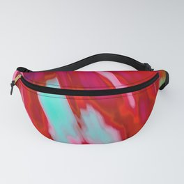 Refreshing Aqua Pink Orange Fusion Abstract Fanny Pack