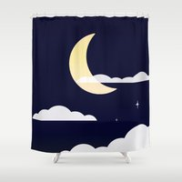 night sky Shower Curtains featuring Night Sky by Jozi