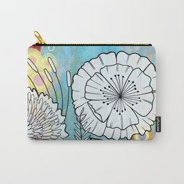 Petunia and Aster Carry-All Pouch