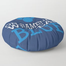 ON Game day We Wear Blue Floor Pillow