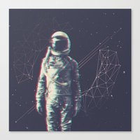 spaceman Canvas Prints featuring Spaceman by Aeodi Graphics
