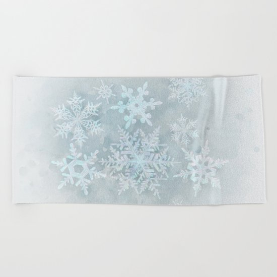 Snow is coming Beach Towel