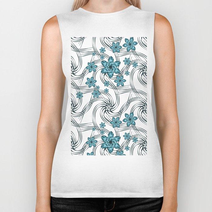 Floral pattern. Biker Tank