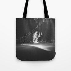 Minimalistic black and white waterfall Tote Bag