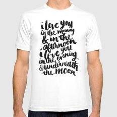 I love you in the morning White Mens Fitted Tee MEDIUM