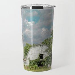 White Barn and Blue Sky Travel Mug