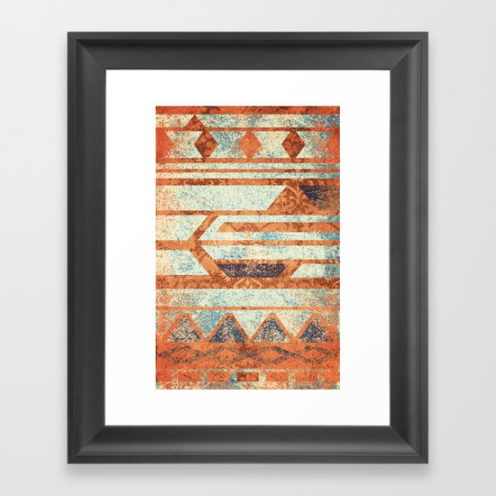 Spice and Cream Framed Art Print