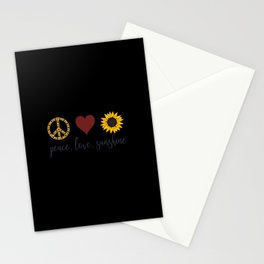 Peace Love Sunshine Gifts Stationery Cards