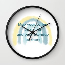Coffee Blessings Wall Clock