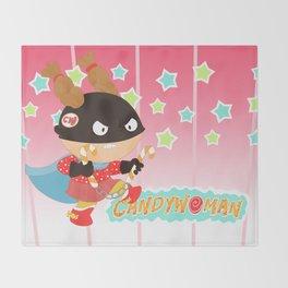 Candywoman Throw Blanket