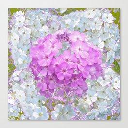 LILAC & WHITE PHLOX FLOWERS Canvas Print