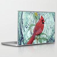virginia Laptop & iPad Skins featuring Virginia Cardinal by ArtLovePassion