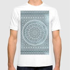 BOHO MANDALA BANDANA MEDIUM Mens Fitted Tee White