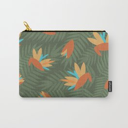 Vintage Florida Birds of Paradise Pattern Carry-All Pouch