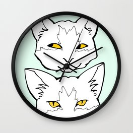 """Meow """"Color"""" Wall Clock"""